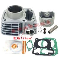 Motorcycle Cylinder Piston Gasket Kit 52.4mm for Honda CBF125 CB125F XR125L GLR125 CG 125 CARGO GLH125 GR125 CGR125 CBF 125cc
