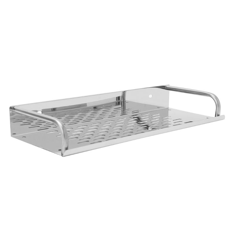 Stainless Steel Kitchen Bathroom Shelf Wall-mounted Storage Rack Single Layer W329