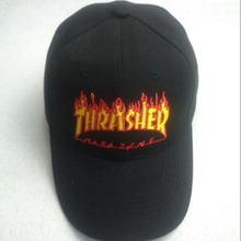 2016 Fashion Letter Print Thrasher Hat Number 6 Caps Women Street Style Baseball Cap Men Summer Hiphop Snapback Hats Thrasher