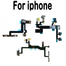 High Quality For iPhone 4 4S 5 5S 5C 6 6S Plus Volume Button Power Switch On Off Button Key Flex Cable