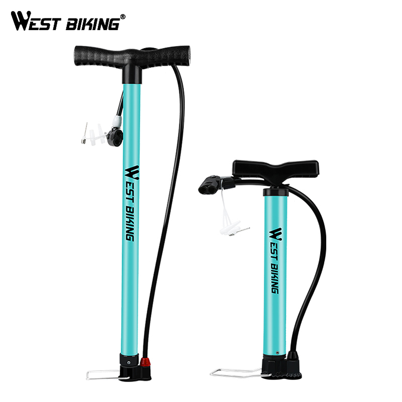WEST BIKING Bicycle Air Pump Schrader Presta Steel Body MTB Road Bike Ball High Pressure Tire Inflator 120/160 PSI Cycling Pump
