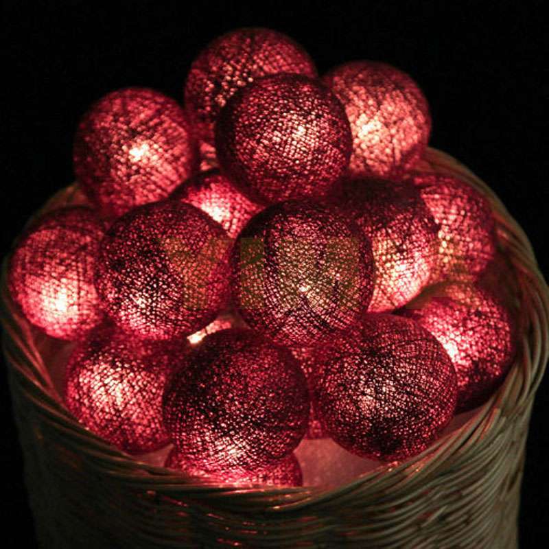 2m 3m 4m 5m 10m LED String Fairy Lights Coffee Cotton Balls Christmas Garlands Holiday Lights Wedding Guirlande Lumineuse luces