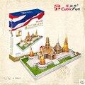 Cubicfun 3D Головоломки Игрушки 150 ШТ. Таиланд Ват Хо Пха Кео Модели MC124h детский Подарок