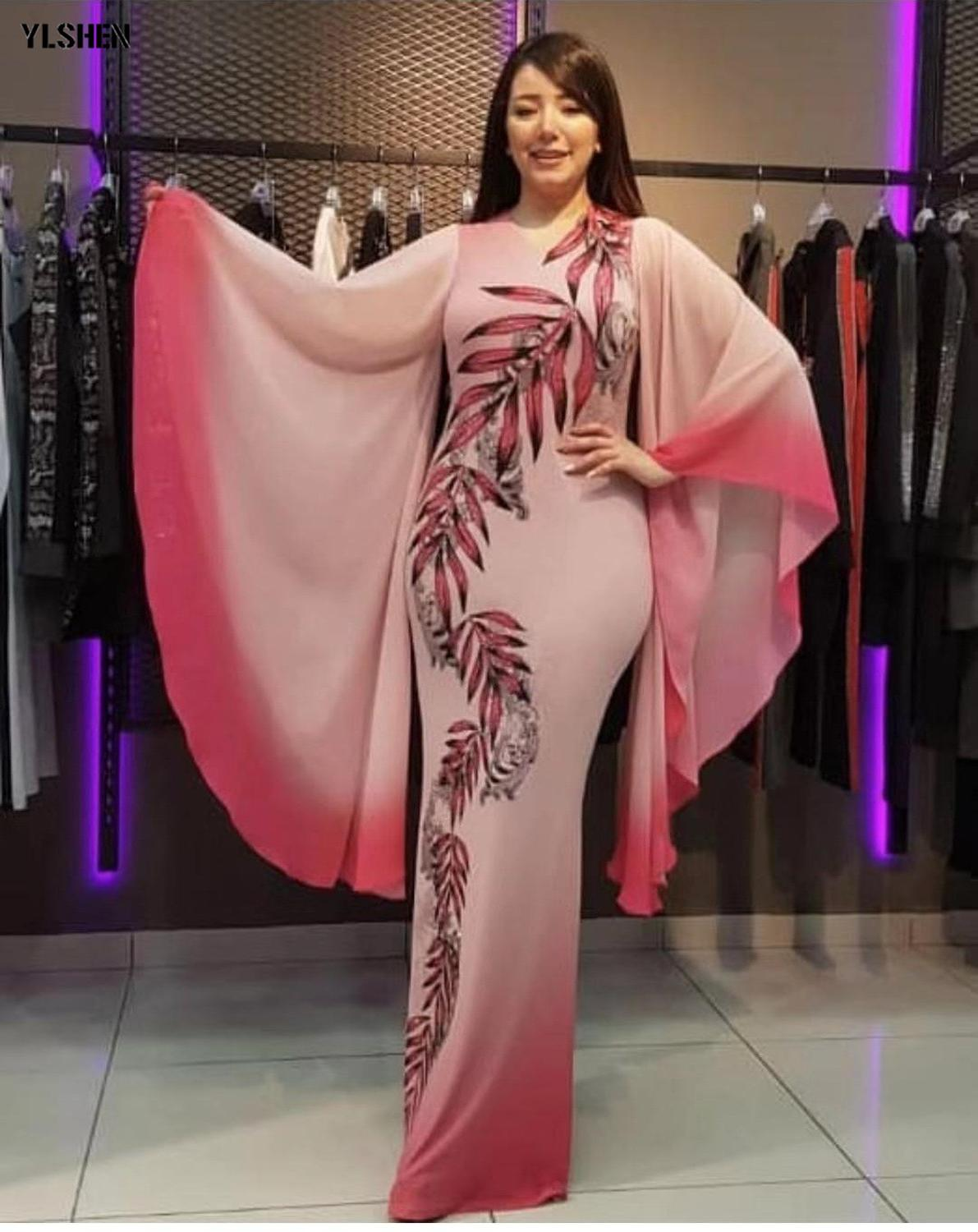New African Dresses For Women Dashiki Print African Clothes Bazin Riche Sexy Slim Ruffle Sleeve Long Africa Maxi Dress Woman