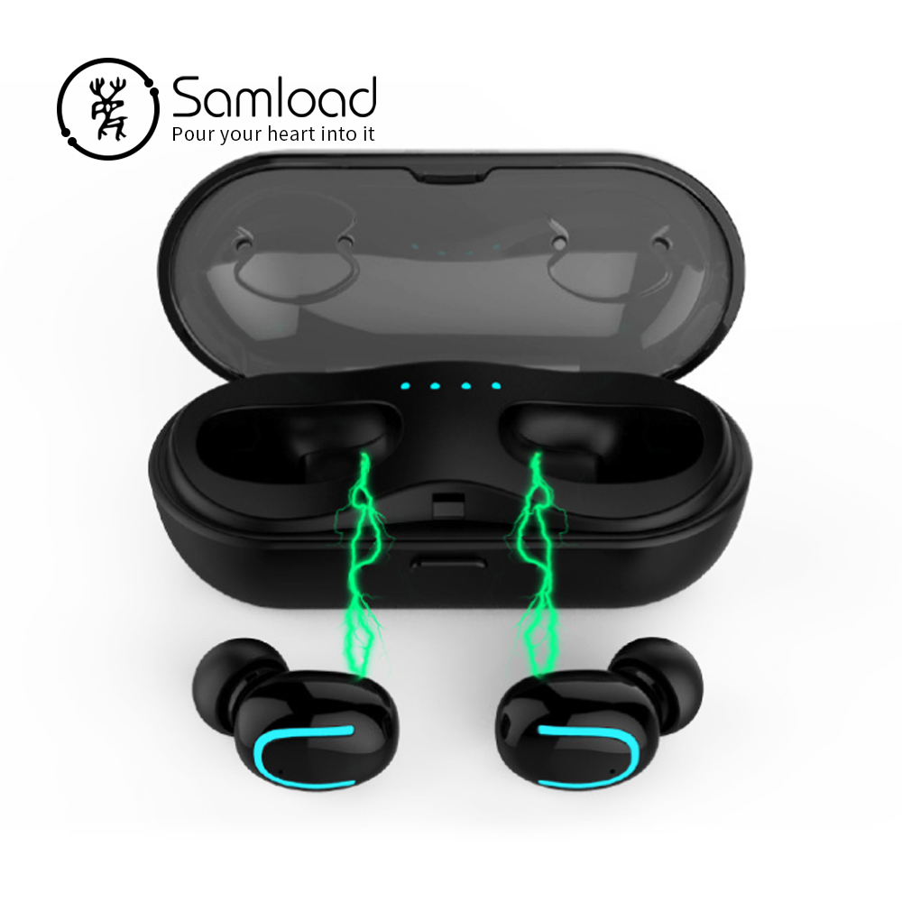 Samload Fitness Bluetooth Earphone 5.0 Wireless Headset with Charging Box in ear Stereo Earbuds For Apple iPhone 6 7 8 Xs Xiaomi цена