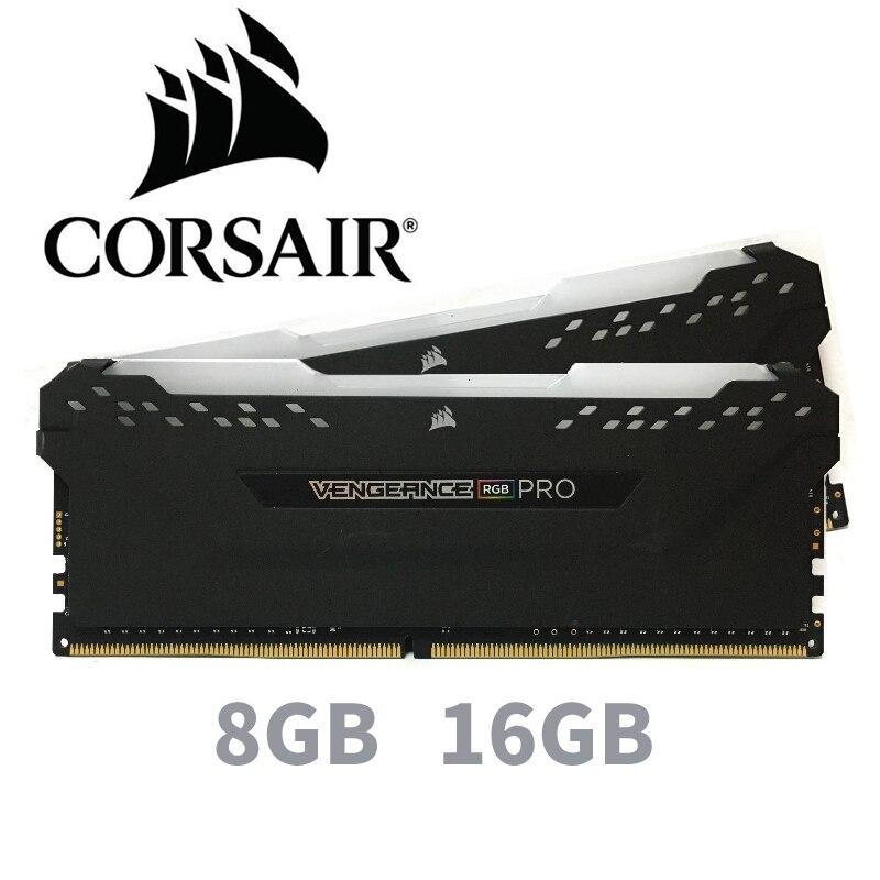 CORSAIR ddr4 pc4 ram 8 GB 3000 MHz RGB PRO DIMM ordinateur de bureau de mémoire Soutien mère 8g 16g ddr4 3000 mhz rgb ram 16 gb 32 gb