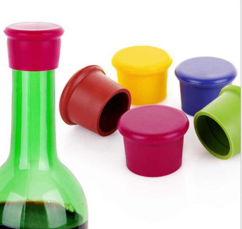 5pcs Wholesale Lots silicone wine stoppers Leak free wine bottle sealers for red wine and beer bottle cap