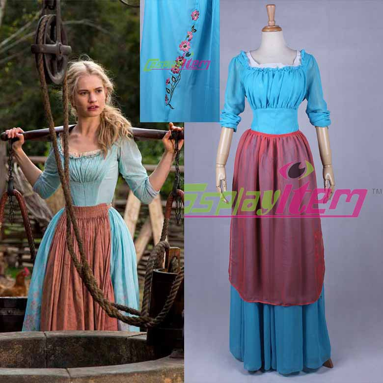 2017 Newest Movie Casual Cinderella Princess Dress Cosplay Costume With A On Aliexpress Alibaba Group