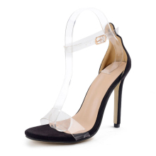 2018 Hot Sale PVC Women Platform Sandals Super High Heels Waterproof Female Transparent Crystal Wedding Shoes Sandalia Feminina