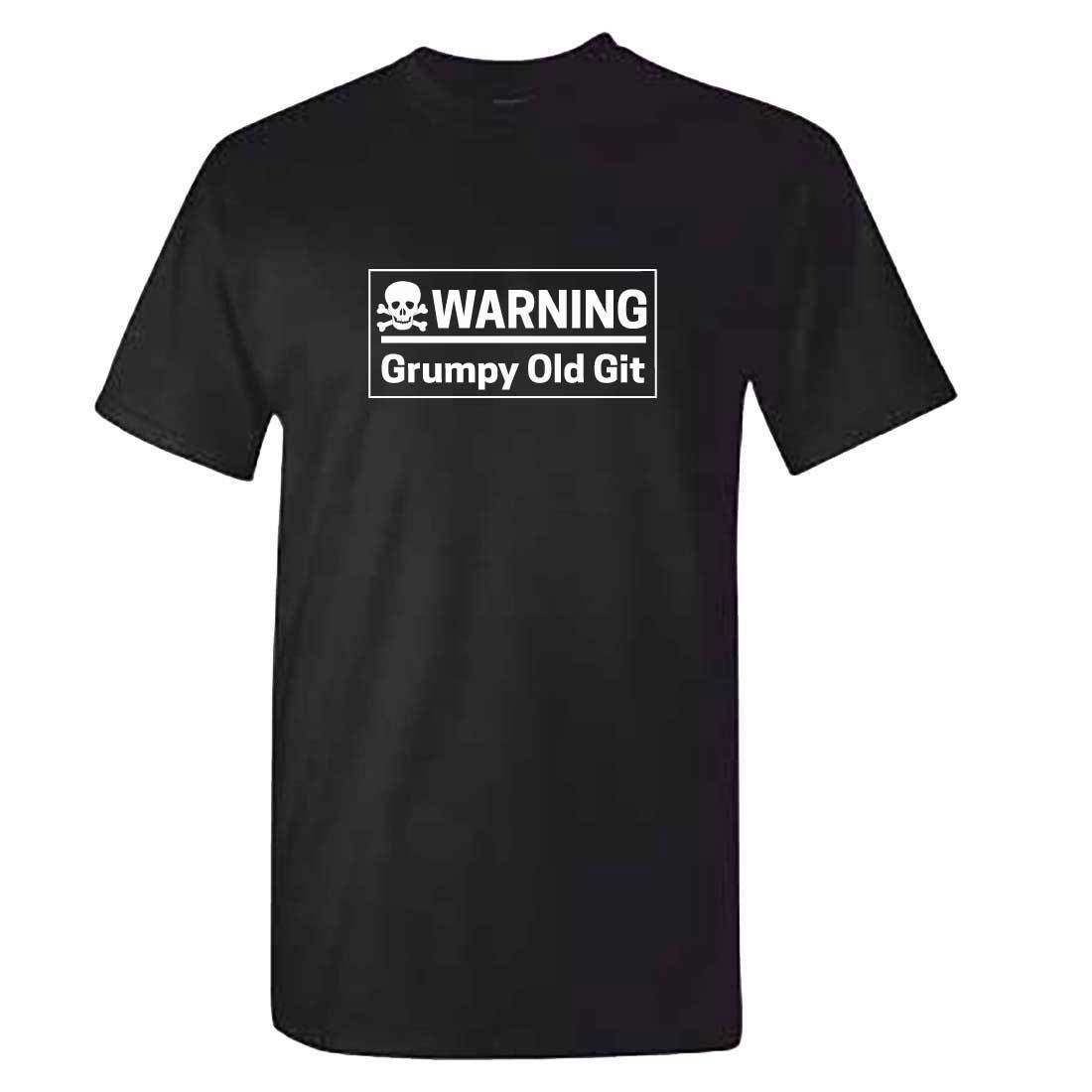 Mens Warning GRUMPY OLD GIT Tshirt - Old Man T Shirt - Funny Gift Fathers Day