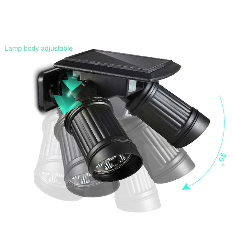 14 LED Solar Light Waterproof Rotatable Double Dural Heads Lamp PIR Motion Sensor Wall Light Outdoor Security Street Light