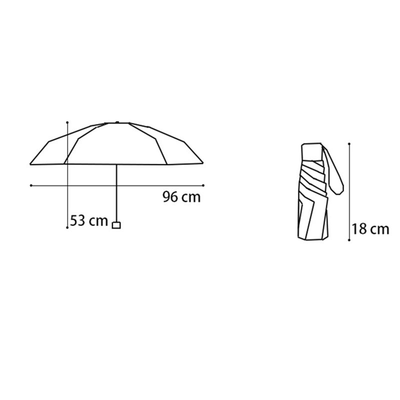 JPZYLFKZL Mini Pocket Umbrella Women Sunny and Rainy Portable Fashion Folding Umbrellas Small Sun Parasol Umbrella Rain Women in Umbrellas from Home Garden