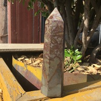 370g Natural Mineral crystal single point healing crystal tower