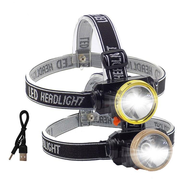 5 Watt/10 Watt Led Leistungsstarke Scheinwerfer Frontale Scheinwerfer Wiederaufladbare Bauen-in Batterie Kopf Taschenlampe Lanterna Für Angeln Camping