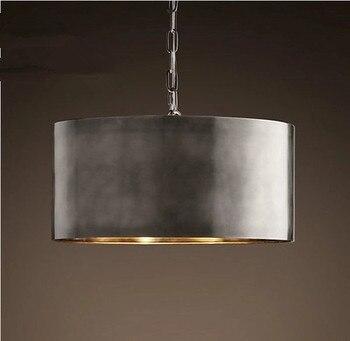 Gold/ Silver Industrial Iron Coffee Shop Pendant Light Retro Loft Light Dining Room Bar Studio Pendant Light Free Shipping фото