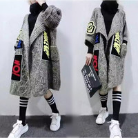 Autumn Spring Winter Loose Casual Plus Size Cardigan Female 200 Medium Long Yarn Women Sweater Outerwear