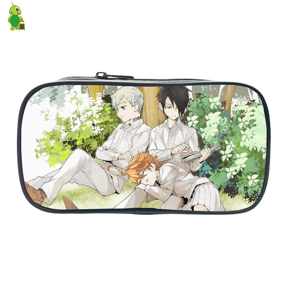Anime The Promised Neverland Pencil Case For Boys Girls Stationery Storage Bags Women Men Cosmetic Bag Kids School Supplies
