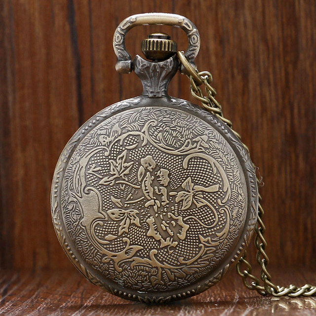 Naruto Theme Bronze Quartz Pendant Pocket Watch