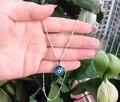 Collar de Mal de Ojo turco 12mm Crystal Charm colgante de luz azul nazar boncuk Joyería Islámica Árabe Griego