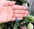 Turkish Evil Eye Necklace 12mm Crystal Charm pendant light blue nazar boncuk Arabic Islamic Jewelry Greek