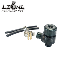 LZONE RACING Black Auto Racing Turbo Aluminum 25mm Blow Off Valve Turbo Wastegate Bov With Adpater
