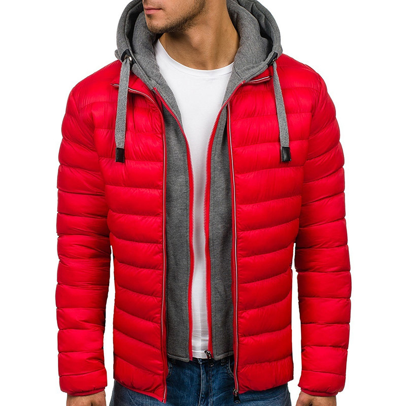 Men's   Parka   Winter Light Weight Warm Hooded   Parka   Coats Down Male   Parka   Jacket Casual Thick Slim Fit Snow Jacket Male Outwear