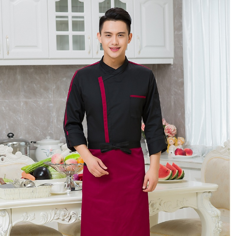 New Arrival Hotel Chef  Jacket Adult  Long Sleeved  Chef Uniforms Autumn And Winter Hotel Cake Bakers Clothes B-5926