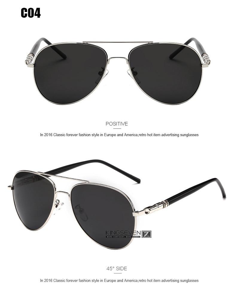 Hot! With 6 Accessories Kingseven Brand Designer Aviator Polarized Sunglasses Men Driving Sport Sun Glasses Women Oculos 9