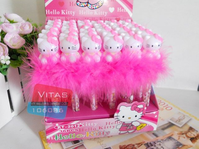 Hotsale! Hello Kitty ballpoint pen,Hello kitty light-up pen/Free shipping ,exfactory price