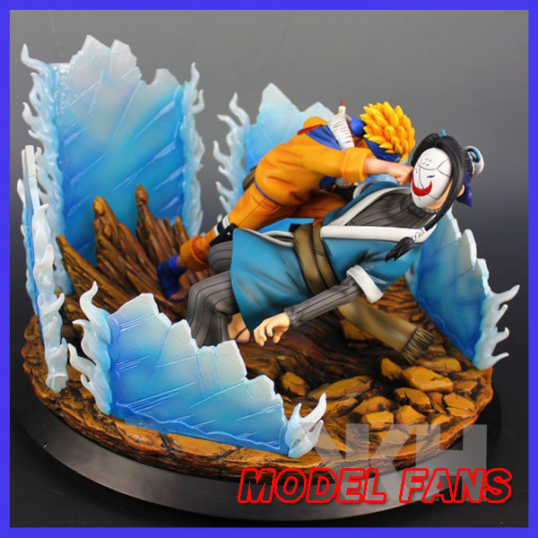 MODEL FANS IN-STOCK VKH 33cm NARUTO naruto VS Haku GK resin made for Collection contain led light model fans in stock the same paragraph tsume 50cm fist of the north star lao gk resin made for collection
