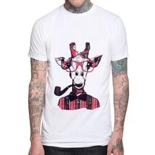 2019 N Fashion Mens Clothes Animal Design Men T shirt Cotton Short Sleeve t-shirts Deer Funny Cartoon Printed Tees Cool Tops
