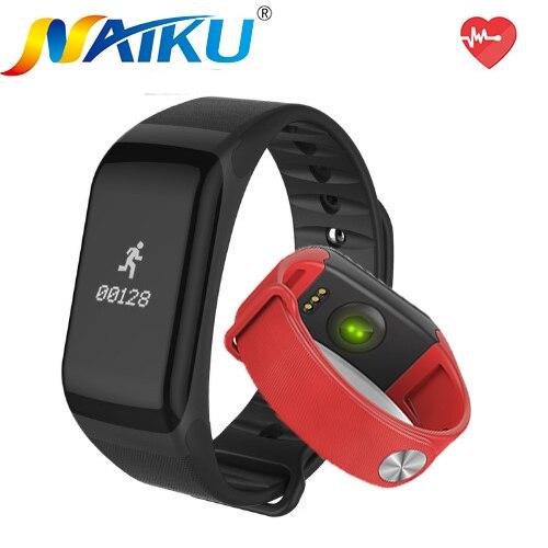 imágenes para Naiku gimnasio rastreador pulsera smartband f1 banda inteligente de la presión arterial monitor de ritmo cardíaco con el podómetro pulsera