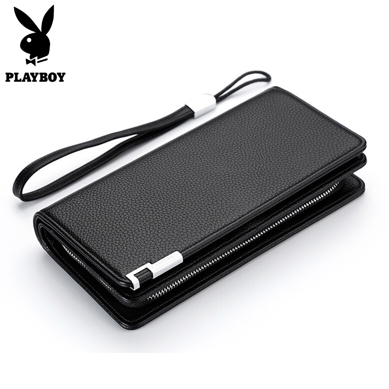 Playboy Men Clutches Business Leather Phone Pocket Hand Bag For Male Card Holder Purses Zipper&Hasp Organizer Coin Purse Wallet new fashion men bifold wallet business leather card holder money purse cash bag coin pocket for men high quality short bag