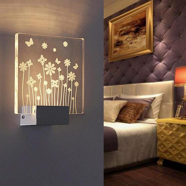 3D Wall Lamp Applique Murale Luminaire Led Light Bathroom Wall Lights For  Home Loft Style Lighting