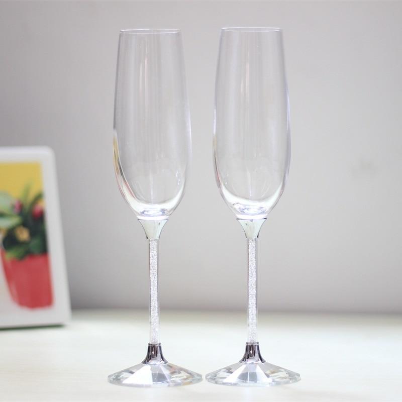 2019 כוסות כוסית יין לחתונה להגדיר כוסות יין קריסטל חלילי שמפניה / כוסות למתנות יום הולדת שותות כוסות יין