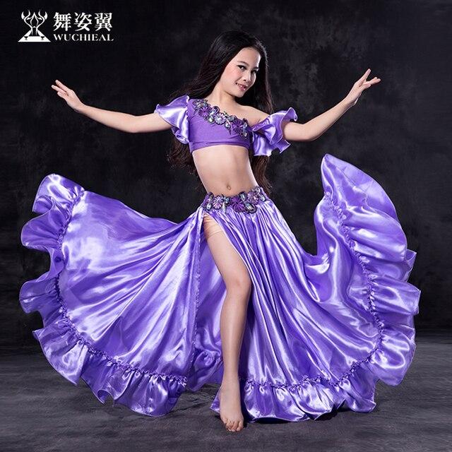 2018 nueva llegada de la alta calidad niños niñas rendimiento Bellydance  traje Wuchieal marca danza del 2c71083c41f9