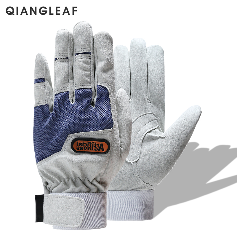 QIANGLEAF Work gloves gardening glove new design microfiber security gloves hot sale sport gloves 6470-in Safety Gloves from Security & Protection
