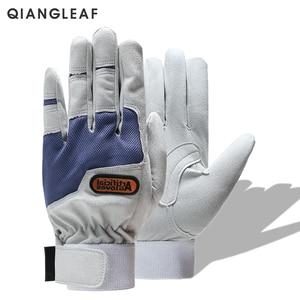 Image 5 - QIANGLEAF Work gloves gardening glove new design microfiber security gloves hot sale sport gloves 6470