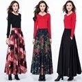 2017 осенне-зимней Моды случайные Плюс размер высокая талия хлопок белье женщина женщины девушки одежда юбки