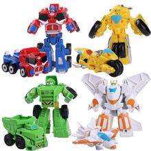 Hot Sale! 12cm Rescue Bots Car Toys Transformation Robot Action Figures Toys For Kids Baby Gift(China)