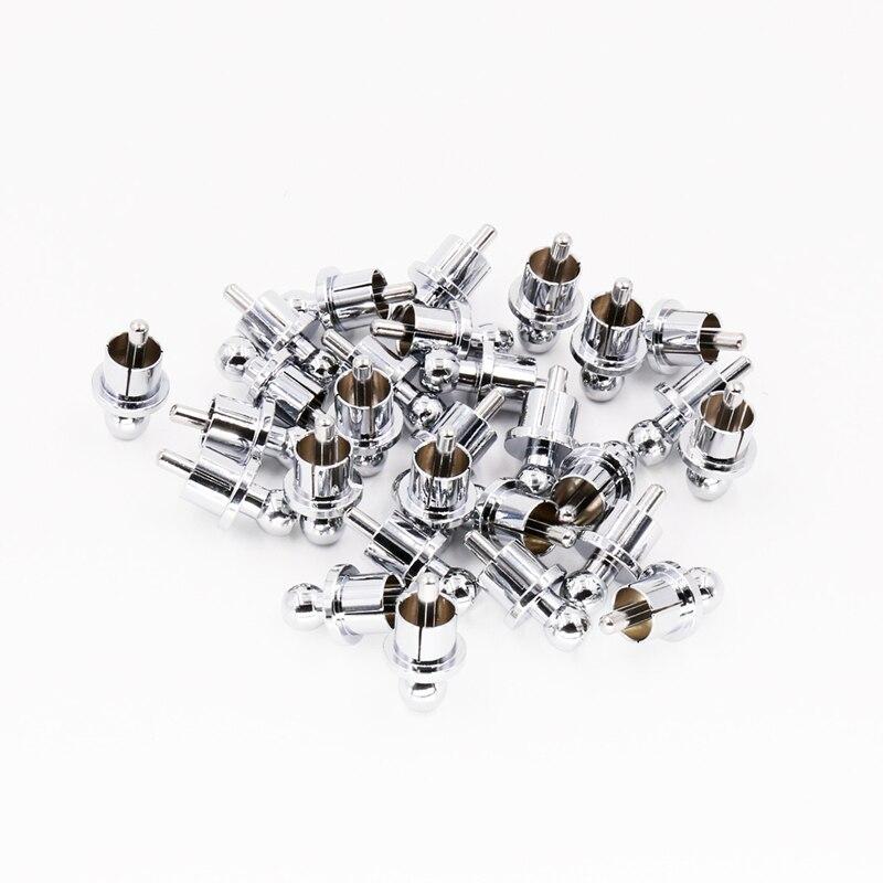 12pcs rhodium plated rca cap plug short circuit socket phono connector rca shielding jack socket