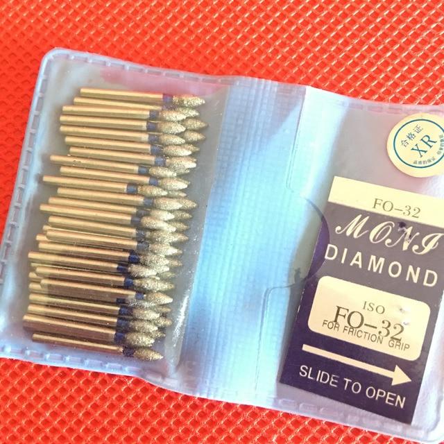 50 piezas de diamante dentales FG de alta velocidad fresas para el pulido de suavizado SF/BR/FO/serie TF Dental fresas 1,60mm