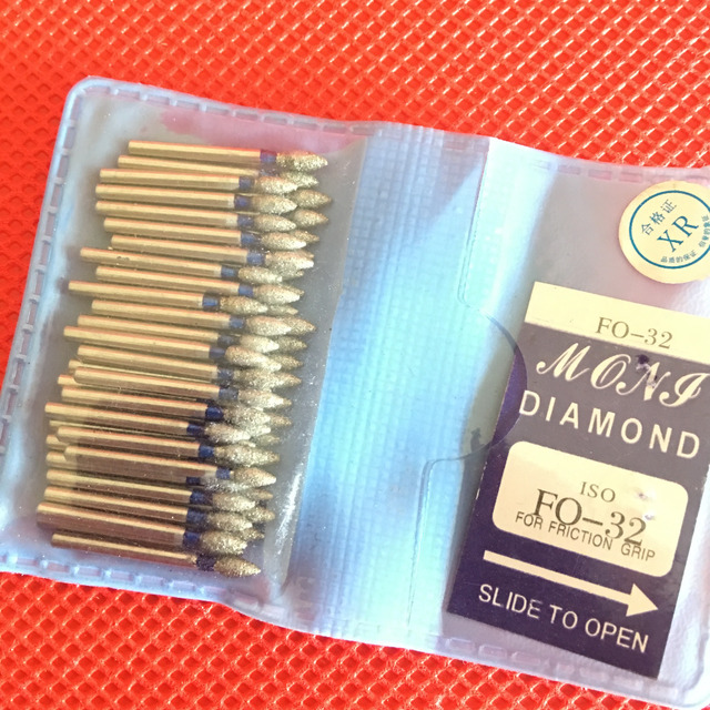 50pcs Dental Diamond FG High Speed Burs for Polishing Smoothing SF/BR/FO/TF SERIES Dental Burs 1.60mm