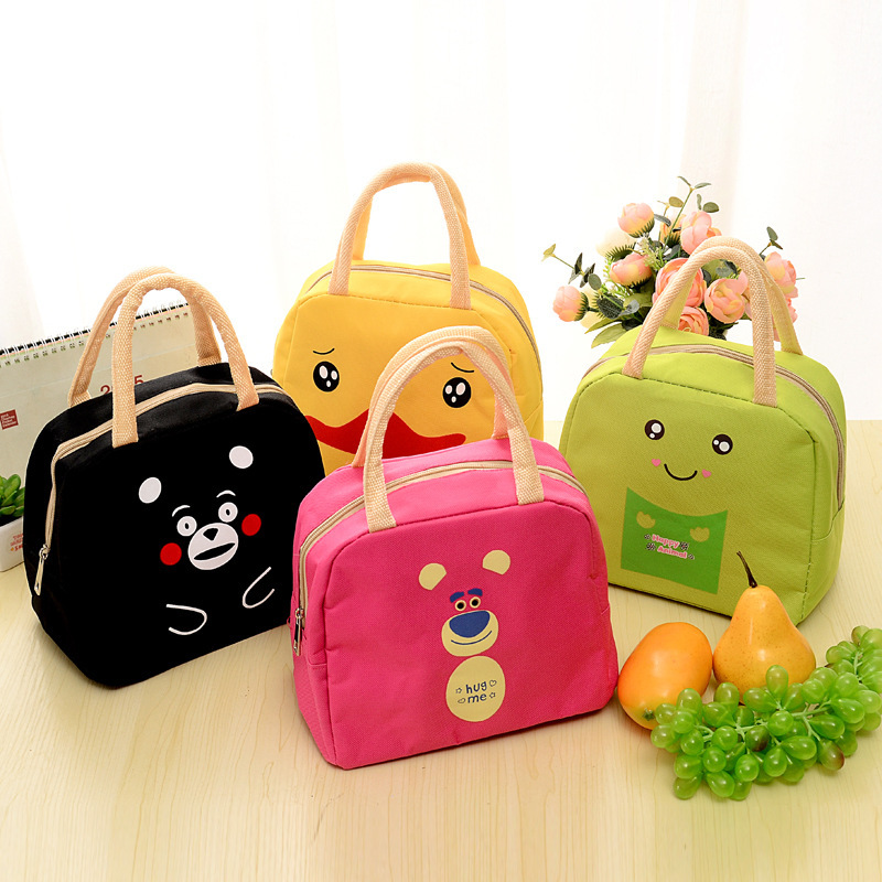 Student Waterproof Oxford Multifunction Cartoon Lunch Bag Outing Picnic Bags Portable Cooler Tote Bag for Kids