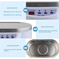 600 Ml Ultrasonic Cleaner Jewelry Glasses Circuit Board Cleaning Machine Intelligent Control Ultrasonic Cleaning Tools