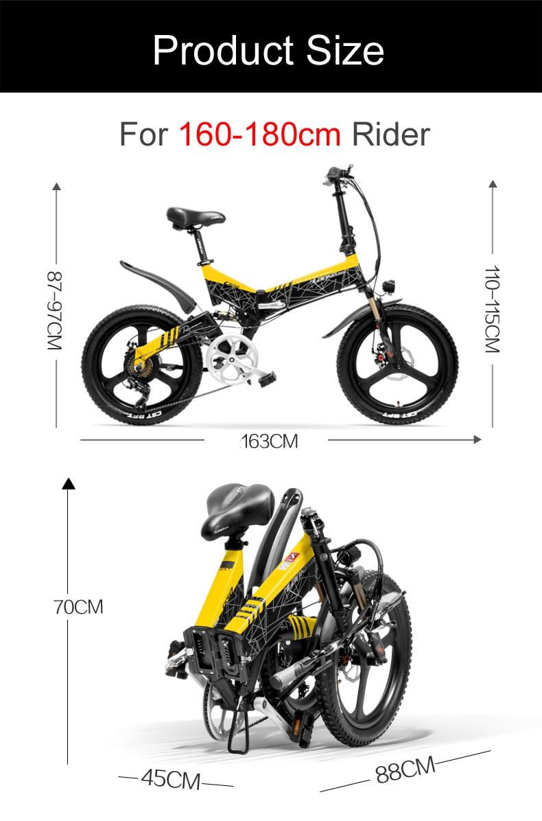 HTB1xbgqaXzsK1Rjy1Xbq6xOaFXaa - G650 20 Inch Folding Electrical Bike 400W Motor 10.4Ah/14.5Ah Li-ion Battery 5 Degree Pedal Help Full Suspension Mountain Bike