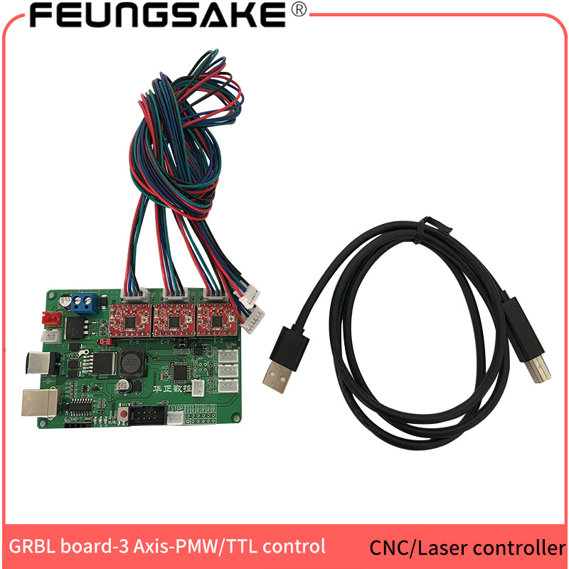GRBL controller arduino with USB and PMW ,cnc controller,laser control board,CNC wood router 3 Axis control board,A4988 chip cnc router 3 axis control board support nema 17