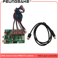 GRBL controller arduino with USB and PMW ,cnc controller,laser control board,CNC wood router 3 Axis control board,A4988 chip