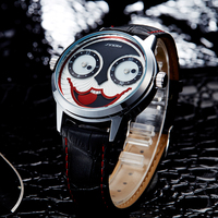 Новинка 2017 года SINOBI клоун стиль Дизайн моды кварцевые часы Для мужчин S Спортивные часы Водонепроницаемый Джокер Часы Бесплатная удивитель...