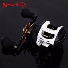 Sougayilang Casting Drum Type Reel Wheel Baitcasting Fishing Reel 9+1BB High Speed 7:1 Gear Ratio Coil Wheel Drum Trolling Reel